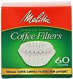 Melitta Java Jig, Single Serve Paper Coffee Filters, 60-Count