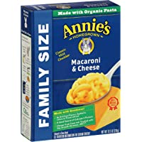 6-Pack Annie's Family Size Macaroni and Cheese (Pasta & Classic Mild Cheddar Mac and Cheese 10.5 oz Box)