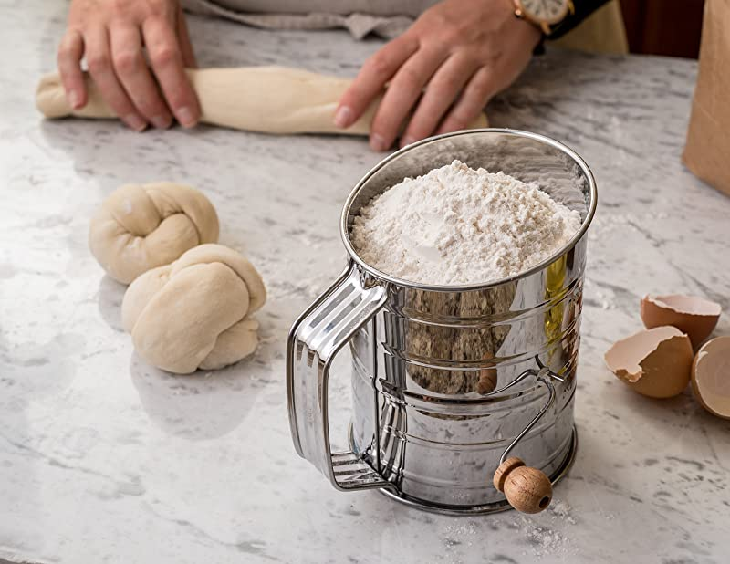 Bellemain Stainless Steel 3 Cup Flour Sifter via Amazon