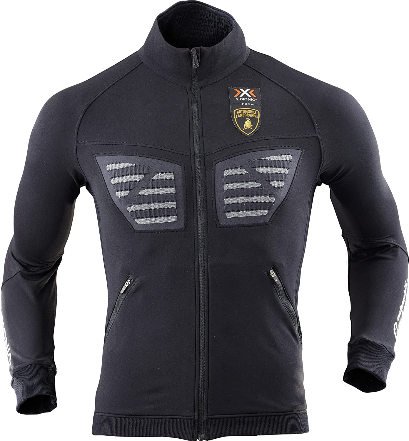 X-BIONIC for Automobili Lamborghini Outdoor Racoon Jacket Black-Anthracite