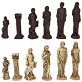 Design Toscano Gods of Greek Mythology Chess Set: Pieces Only (Color: Two Tone Stone)