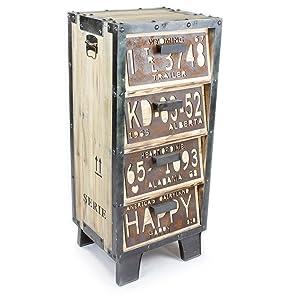 Industrie Design Kommode Holz Schrank Metall Optik Vintage Style Loft Möbel / NEU / 485  Kundenbewertung und Beschreibung