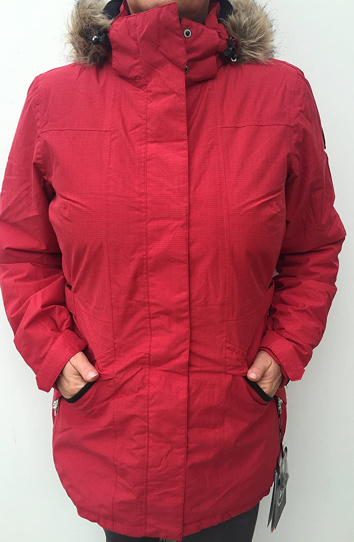 Killtec Winterjacke Damen Parkara dunkelkoralle Größe 40 Modell 2015/16