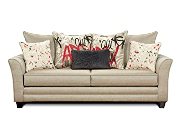 Furniture of America Graffito Sofa, Beige