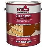 KILZ Over Armor Smooth Wood/Concrete Coating, 1 gallon, Redwood (Color: Redwood, Tamaño: 1 Gallon)