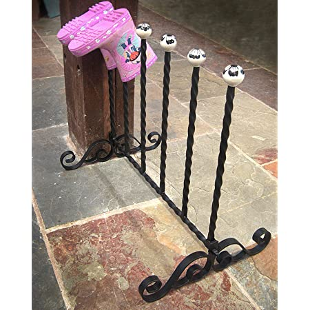 Black Country Metal Works - Wrought Iron Welly Boot Rack