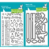 Lawn Fawn Joy to the Woods Clear Photopolymer Stamps LF706 Bundle with Coordinating Lawn Cuts Dies LF707