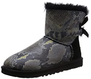 Image UGG Australia Women's Mini Bailey Bow Snake Sheepskin Boot