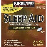 Kirkland Signature Sleep Aid Doxylamine Succinate 25 Mg, 2 pack (192 Tablets) (Tamaño: TG)