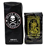 Death Wish & Valhalla Java Ground Coffee Bundle Deal, USDA Certified Organic & Fair Trade (1 of Each Bag) (Tamaño: Ground)