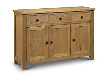 Julian Bowen Light Astoria Sideboard, Waxed Oak