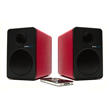 Grace BTSP207 Grace Audio numérique avec haut-Parleur Bluetooth Rouge