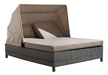 ZUO VIVE Siesta Key Double Chaise Lounge, Espresso
