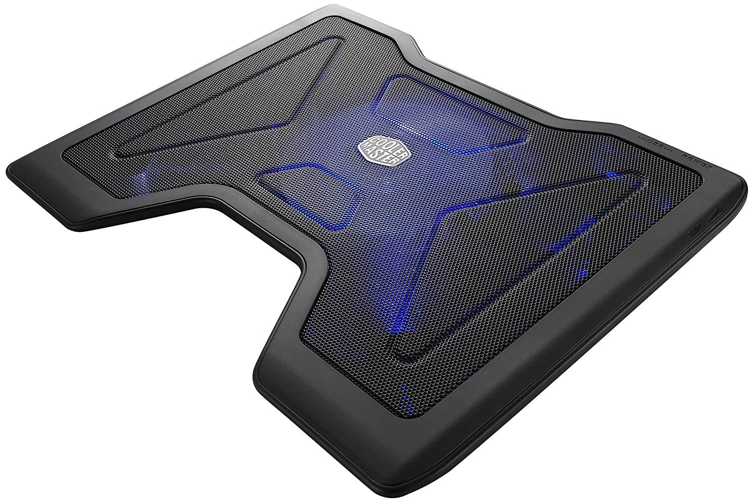 Details about Laptop Cooling Pad Cooler Blue LED Fan Chill Mat Gaming  #41436F
