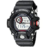 Casio Men's GW-9400-1CR Master of G Stainless Steel Solar Watch (Color: Black, Tamaño: One Size)