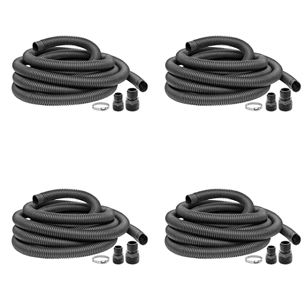 Superior Pump 99624 Universal Discharge Hose Kit, 24-Feet, with 1-1/4-Inch and 1-1/2-Inch Adapters (F?ur ???k) (Color: F?ur ???k)