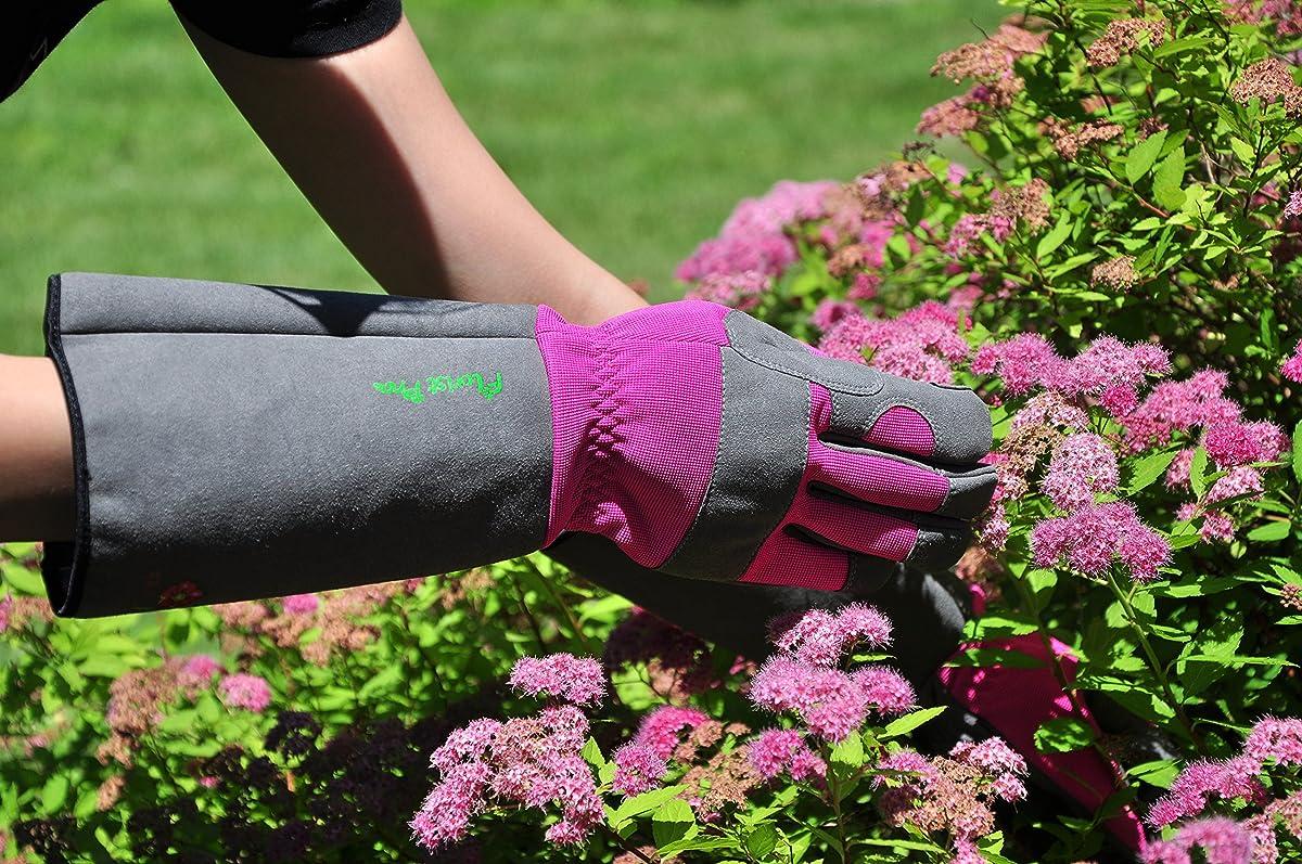 G & F 2430M Florist Pro Long Sleeve Rose gardening Gloves, Thorn Resistant Garden Gloves, Rose Pruning Gloves - Womens Medium