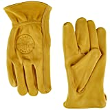 Klein Tools 40021 Cowhide Work Gloves, Unlined, Medium (Tamaño: Medium)