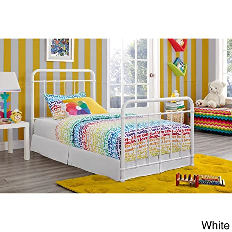 Metro Shop DHP Brooklyn Iron Twin-size Bed-Twin,White Metal Bed