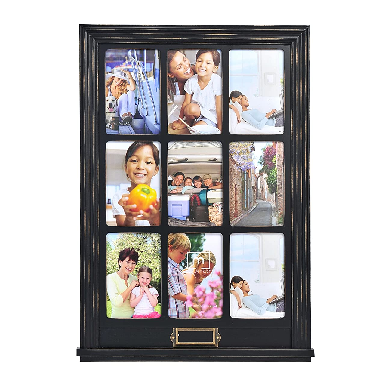 Melannco 9-Opening Window Collage (Distressed Black) 0