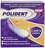 Polident Polident Partials Denture Cleanser, 40 Count
