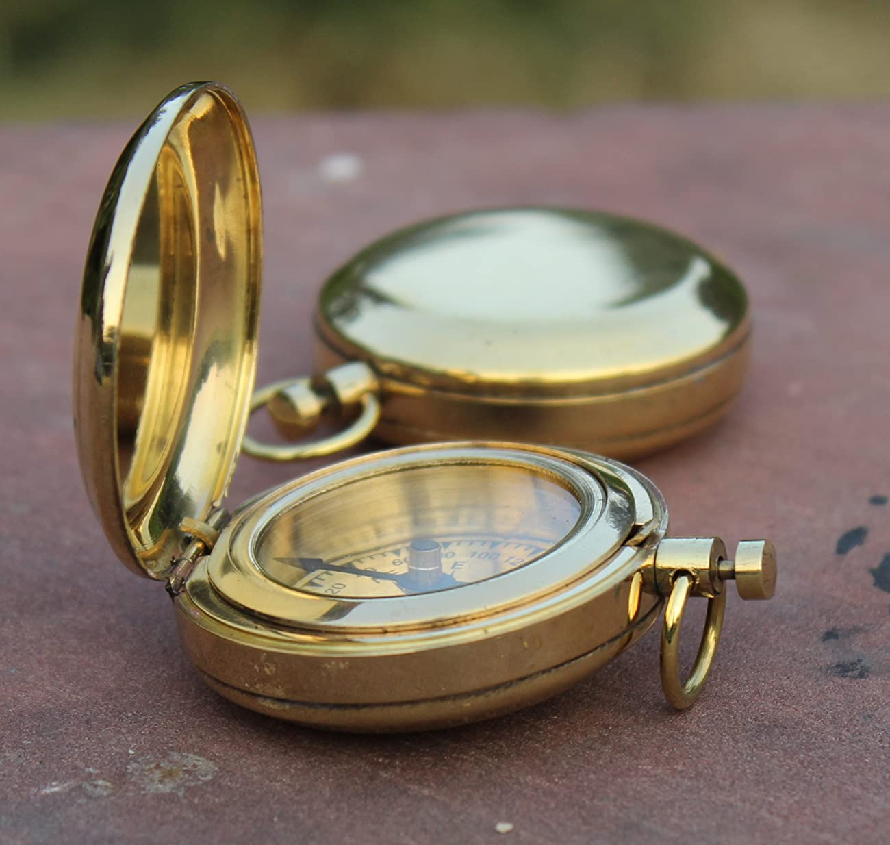 Nautical Collectible Retro Style Compass Decorative Gift Item Brass Finish Compass 0