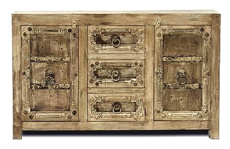 "Sit-Möbel 9403-04 cómoda ""Jaipur"", 150 x 40 x 90 cm, madera vieja reciclada con diseño"