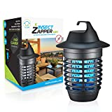 Livin' Well Electric Bug Zapper - Mini Insect Zapper Mosquito Killer Trap with 5W UVA Mosquito Trap Light + Steel Outdoor Indoor Bug Zapper Grid