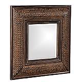 Howard Elliott 37046 Grant Square Mirror (Color: Antique Brown, Tamaño: 23W x 23H in.)