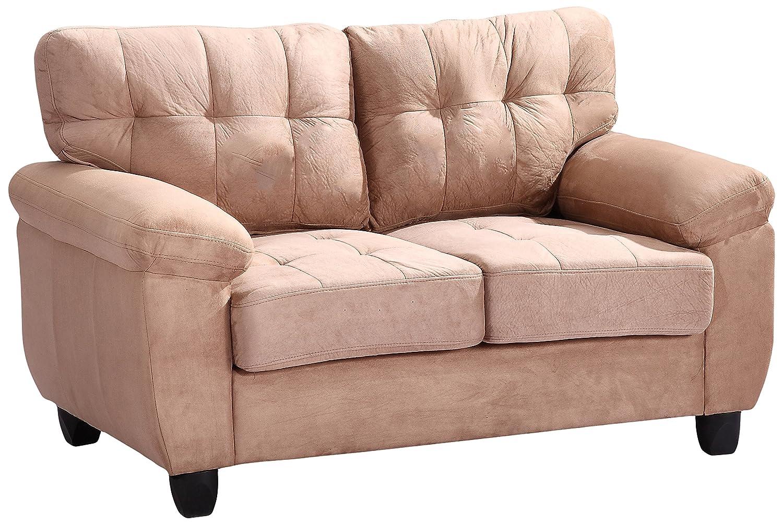 Glory Furniture G904A-L Living Room Love Seat - Mocha