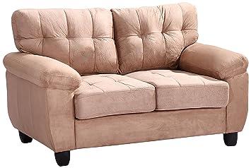 Glory Furniture G904A-L Living Room Love Seat, Mocha