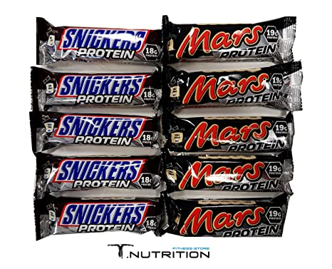 MARS & SNICKERS PROTEIN RIEGEL MIX BOX (10 Stuck)
