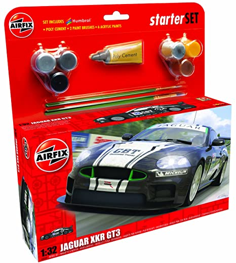 Airfix - A50109 - Maquette - Jaguar XKRGT3 Apex Racing - Large Starter Set