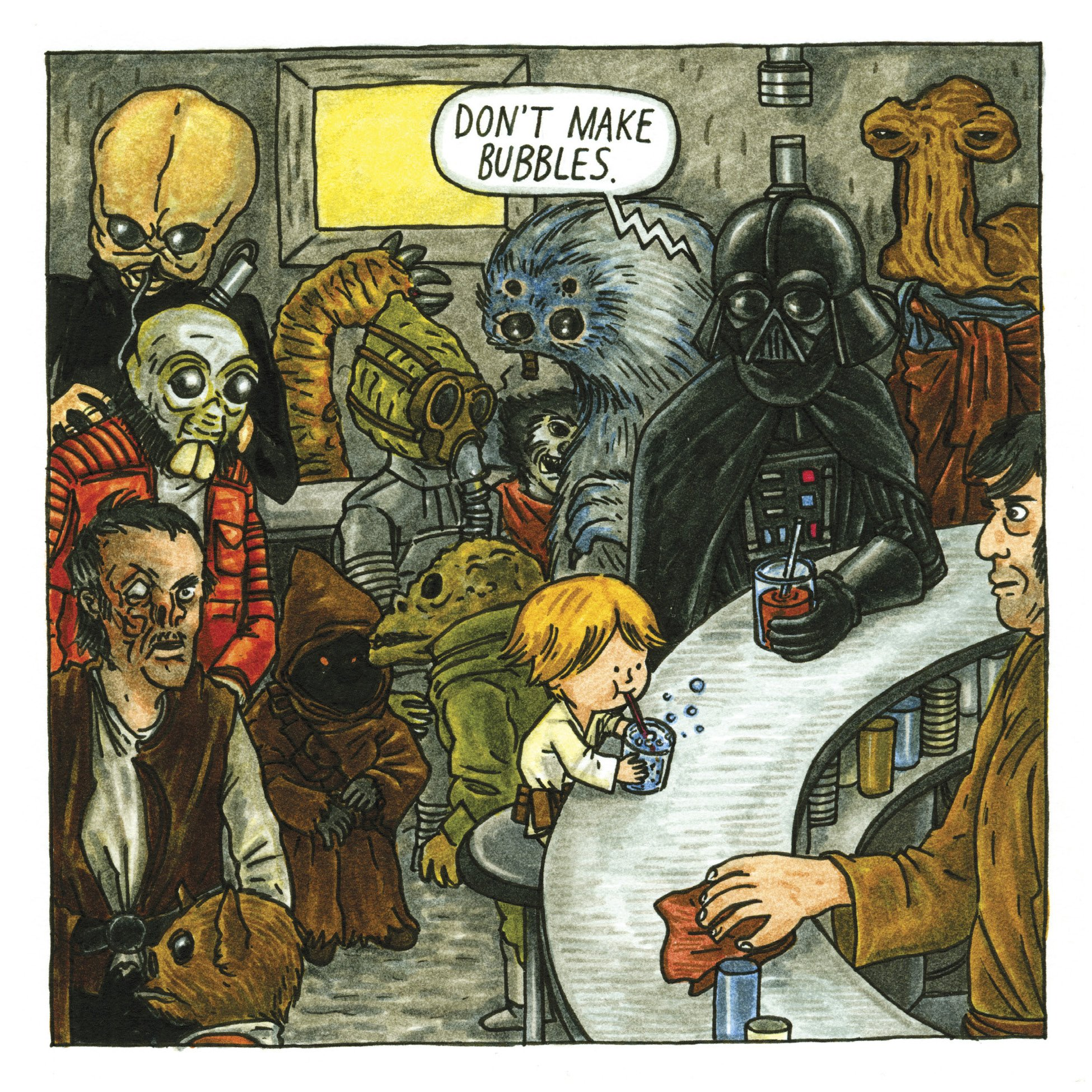 Jeffrey Brown STAR WARS comic book