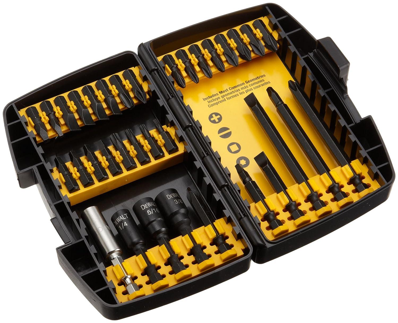 dewalt screwdriver kit tool set 34 piece part screwdriving storage case porta. Black Bedroom Furniture Sets. Home Design Ideas
