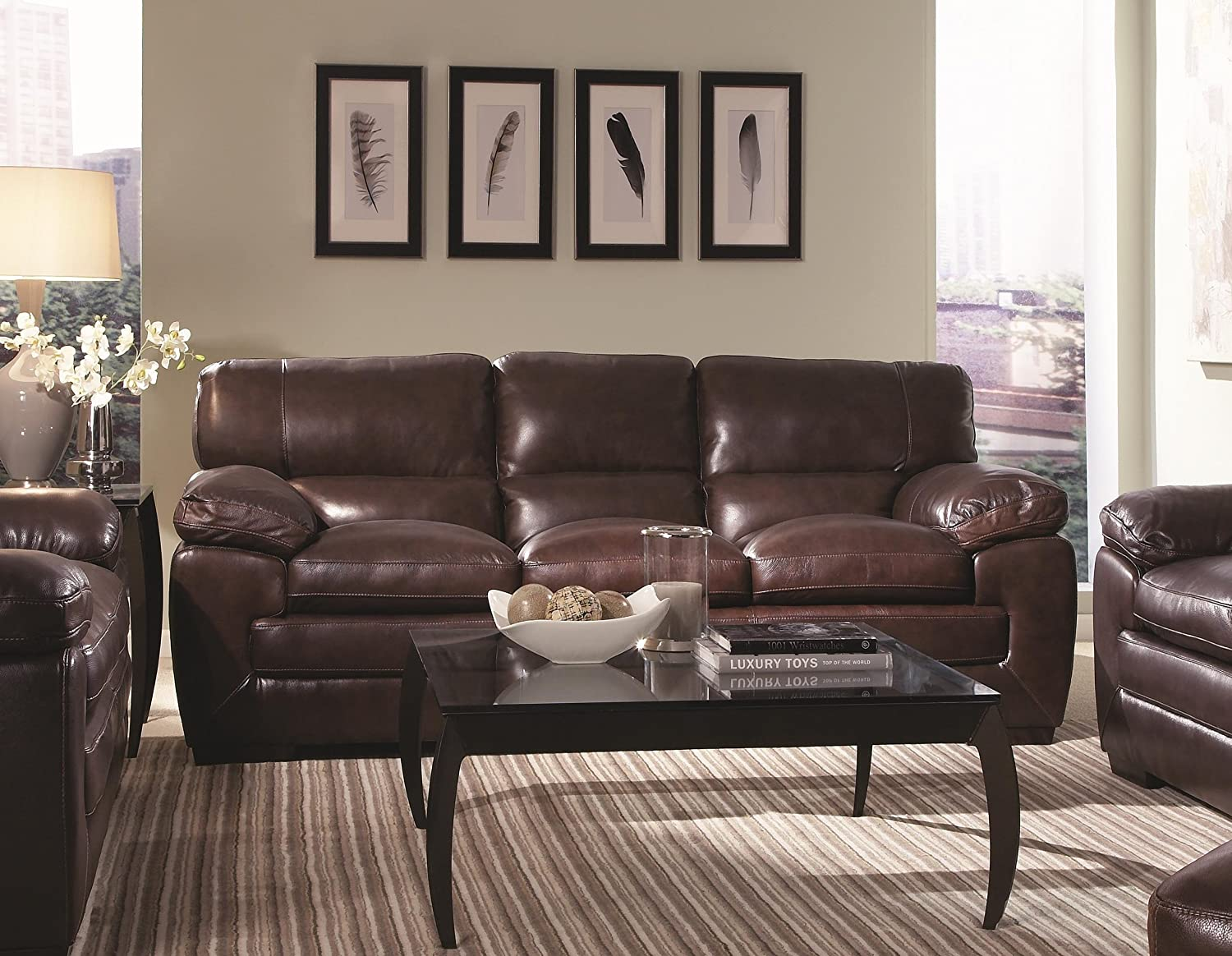 Chelsea Home Furniture El Paso Sofa - Texas Black Oak