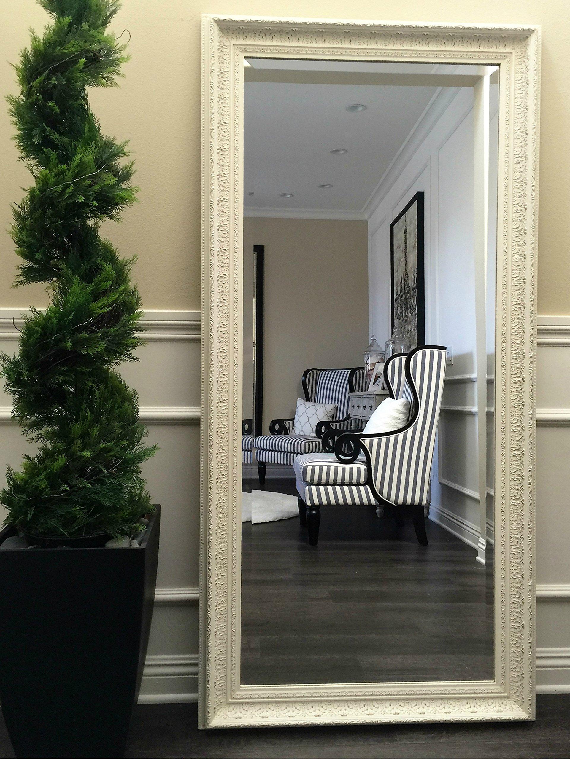 West Frames Elegance Ornate Embossed Antique White Wood