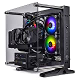 Thermaltake Lcgs P-101 AIO Liquid Cooled CPU Gaming PC (AMD Ryzen 5 3600X 3.8GHz, DDR4 3200MHz 16GB RGB Memory, NVIDIA GeForce RTX 2060 Super 8GB, Gen4 M.2 1TB, WiFi, Win 10 Pro) P1BK-X570-AP1-LCS (Color: Gaming PC, Tamaño: P1 Mini ITX)