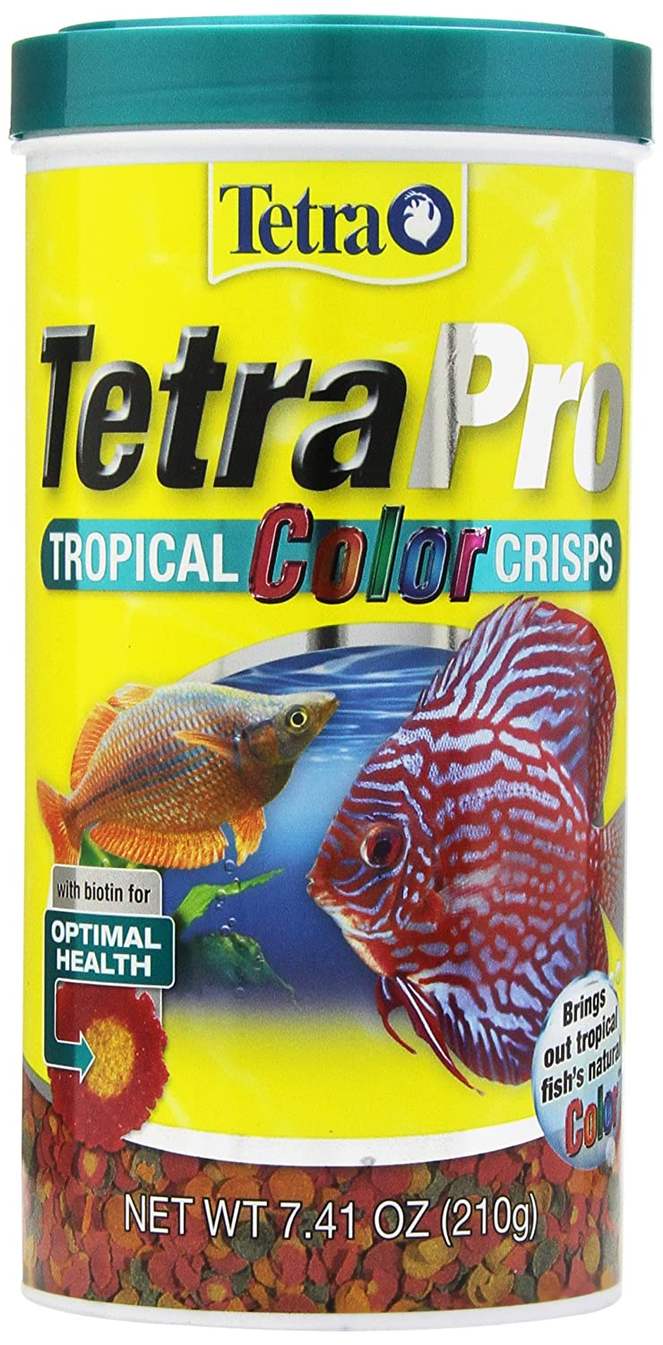 Tetra 77080 TetraPRO Color Crisps for Fishes, 7.41 oz tetra minpro crisps