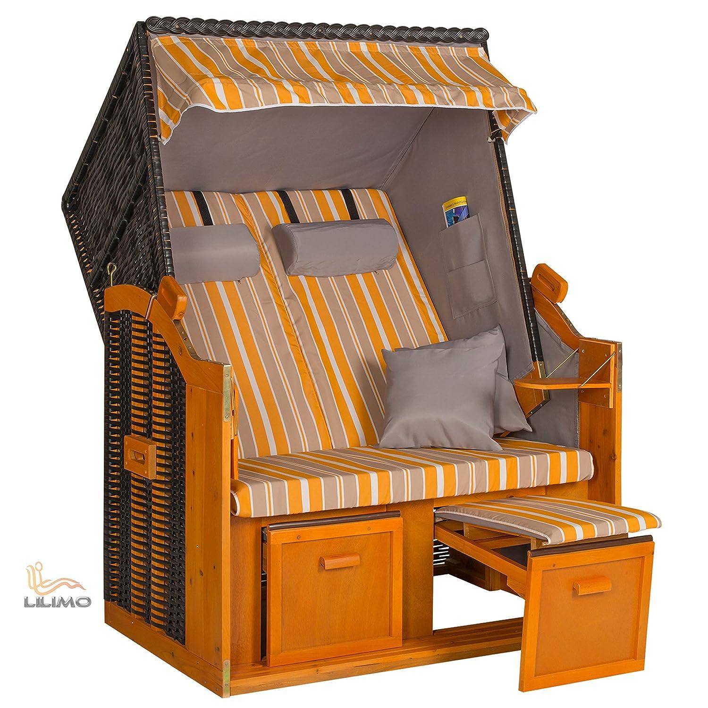 Strandkorb BALTIC YGG, Geflecht anthrazit, fertig montiert, LILIMO ® günstig bestellen