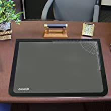 Artistic Logo Pad Lift-top Desktop Organizer Desk Mat 17 x 22 Inches, Black/Clear (41700)