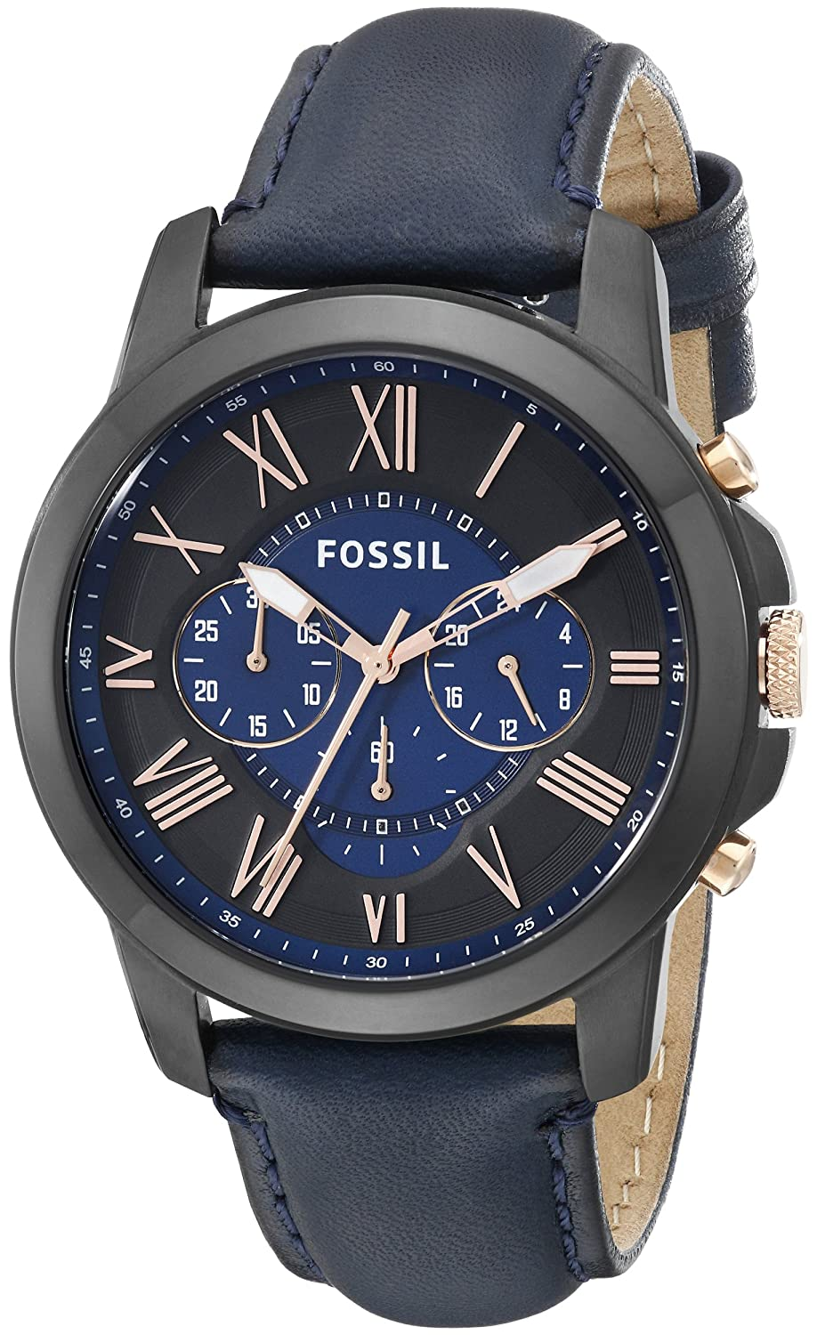 buy fossil grant analog blue dial men s watch fs5061 online at buy fossil grant analog blue dial men s watch fs5061 online at low prices in amazon in