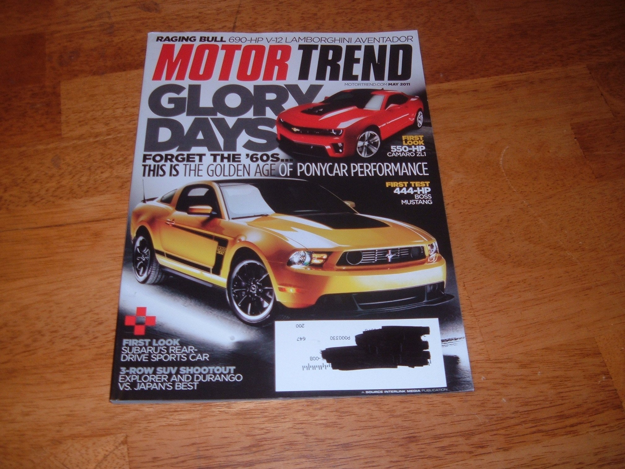 Motor Trend Magazine May 2011 Motor Trend May 2011 444 hp