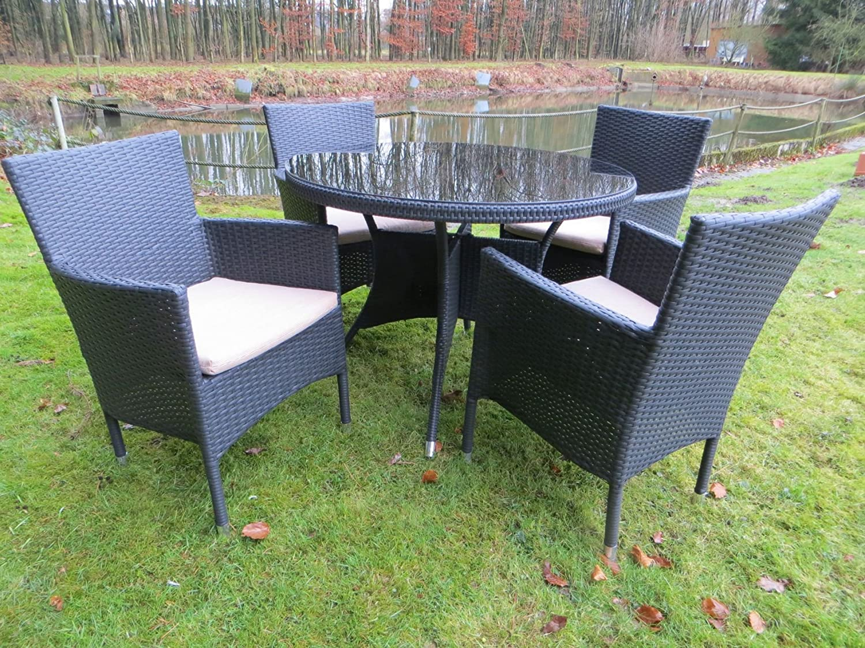 10 teilige hochwertige polyrattan gartenm bel gruppe pure aus dem hause dacore rrr inkl. Black Bedroom Furniture Sets. Home Design Ideas