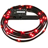 NZXT CB-LED20-RD 2-Metres Light Sensitivity Sleeved LED Kit (Red) (Color: Red)