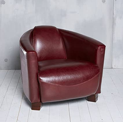 Clubsessel Cocktailsessel Sessel Loungesessel Möbel Relaxsessel rot antik Stil