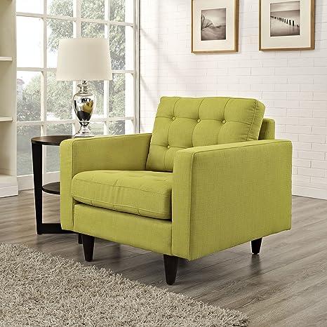 Empress Upholstered Armchair, Wheatgrass