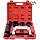 RAM-PRO Ball Joint Press Service Repair Kit, Removal Tool Set, 2/4 Wheel Drive Vehicle Remover Installer Adapters – Also Used to Remove/Install Brake Anchor Pins and U-Joints (10 Pcs) (Color: Silver)