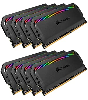 Corsair Dominator Platinum RGB 64GB (8x8GB) DDR4 3200 (PC4-25600) C16 1.35V Desktop Memory (Color: RGB, Tamaño: 64GB (8x8GB))