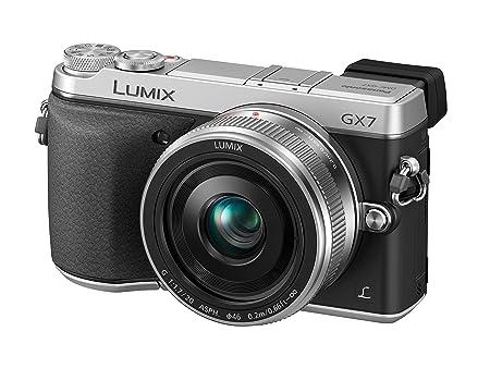 Panasonic Lumix DMC-GX7CEG Appareil Photo Numérique Compact 16 Mpix Wi-Fi Noir, Argent